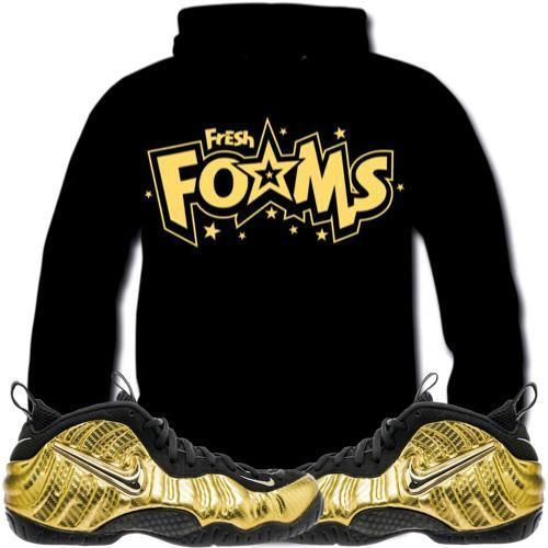 Metallic Gold Foamposites Sneaker Hoodie - FRESH FOAMS