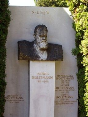 Boltzmann's Grave | Atlas Obscura Zentralfriedhof, Vienna's largest and most famous cemetery, is the final resting place for many important Europeans. The cemetery has a particularly notable constituency of composers: Beethoven, Brahms, Schoenberg, Schubert, and the Strauss family are all buried there. Perhaps the most intriguing grave site, however, belongs to Ludwig Boltzmann, the Austrian physicist known for his contributions to statistical mechanics and thermodynamics. While his…