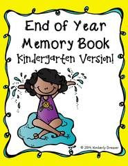 Happy End of Year! Kindergarten Memory Book! Enter for your chance to win 1 of 2. End of Year Memory Book, Kindergarten Edition  (20 pages) from Kimberly's Kindergarten on TeachersNotebook.com (Ends on on 05-28-2015) Enjoy the end of the year with this memory book. Take the time to remember your year as the children work on their writing and drawing skills. A great keepsake!.