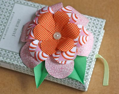 Fabric flower for the tops of gifts; maybe a job my seven year and I can do together?!?