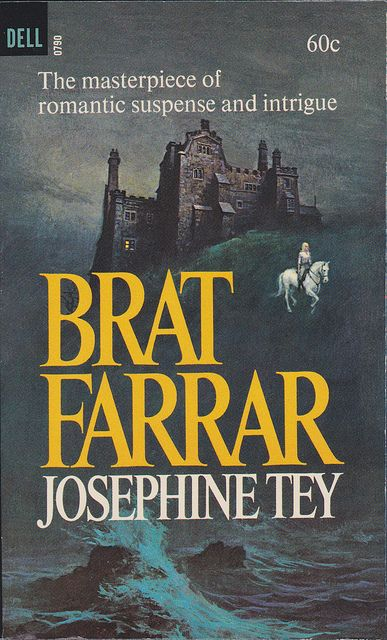 Josephine Tey - Brat Farrar  1966 Dell790 Novel Cover by Garrido