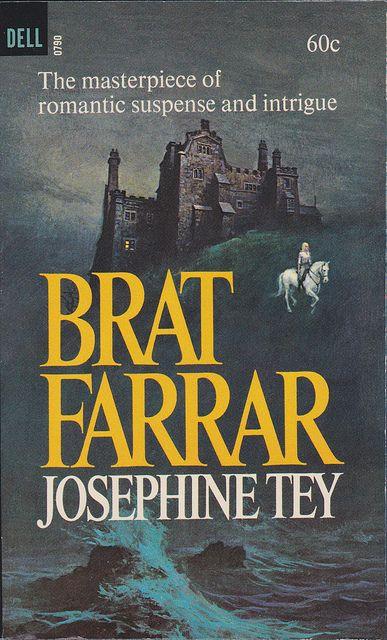 Josephine Tey - Brat Farrar  1966 Dell790 Novel Cover by Garrido