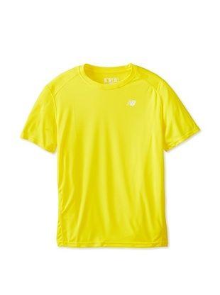 36% OFF New Balance Men's Go 2 Short Sleeve Top (Atomic Yellow)