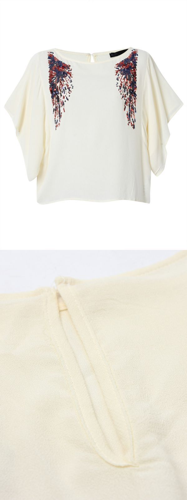 T shirt for girl with price casual loose sequins batwing sleeve women top t-shirt #13.1 #womens #t-shirts #3/4 #sleeve #t #shirts #womens #uk #bad #t #shirt #ideas #girl #girlie #girl #t #shirts #wholesale
