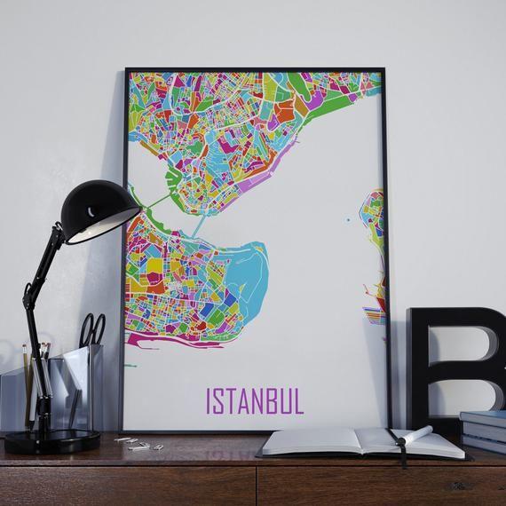 Istanbul Map Istanbul Travel Map Istanbul Street Map Istanbul Map Poster Istanbul Map Photo Istanbul Map Print Istanbul Map Art Istanbul