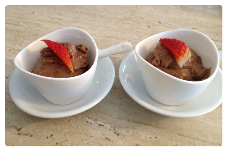 Chocolate `mousse' pudding