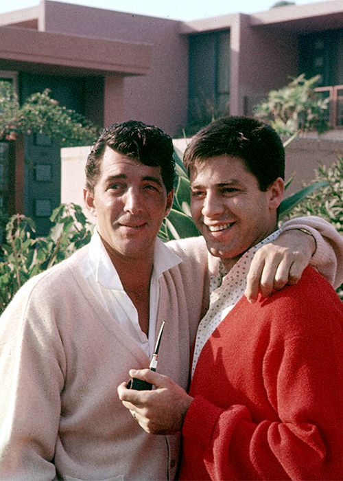 "leonardodicrapio: "" Dean Martin and Jerry Lewis c. 1955. Photo by Gerald K. Smith """