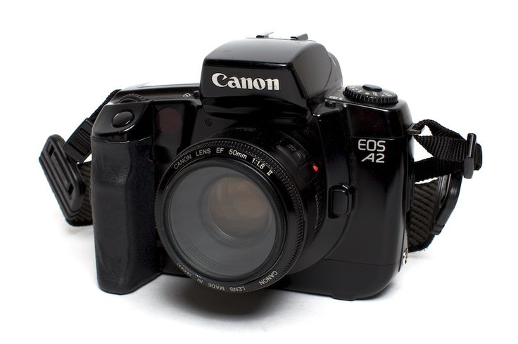 """Pinner's comment:""""Canon A2 & 50mm f/1.8    November 16, 2011  Taken with Canon 5DII    If you want a film camera with autofocus on a budget this is the camera and lens to get.  Pair this camera with Canon's 50mm f/1.8 lens and you have an amazing package. It focuses well in low light, can shoot wide open in sunlight (the shutter goes to 1/8000s), and can crank off 5 frames per second. While an EOS 1V is a bette""""On A Budget, Canon 50Mm, F 1 8 Lens, 50Mm F 1 8, Wide Open, Amazing Packaging, Low Lights, Shoots Wide, Film Cameras"""