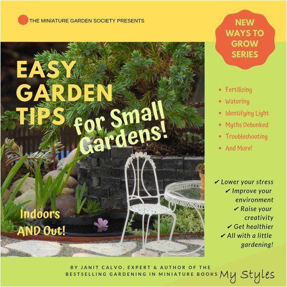 Mar 8 2019 Easy Garden Tips For Small Gardens Pdf Ebook Instant Pdf Digital Download Tips On Watering Fert Gartentipps Tipps Kleine Garten