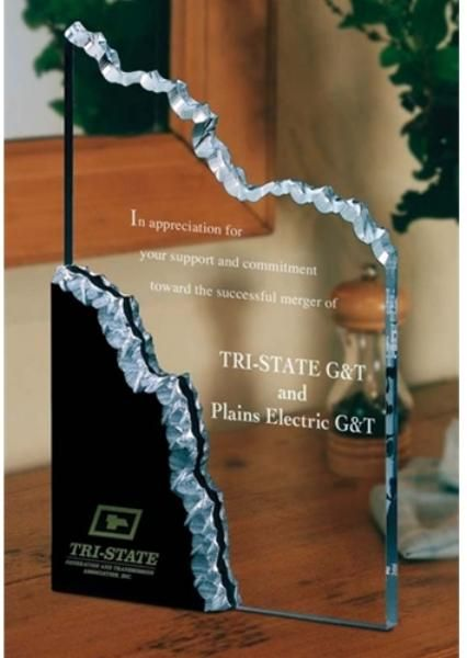 Perspective Series Precipice Acrylic Award  SDTA offers free engraving on all of our awards and trophies!