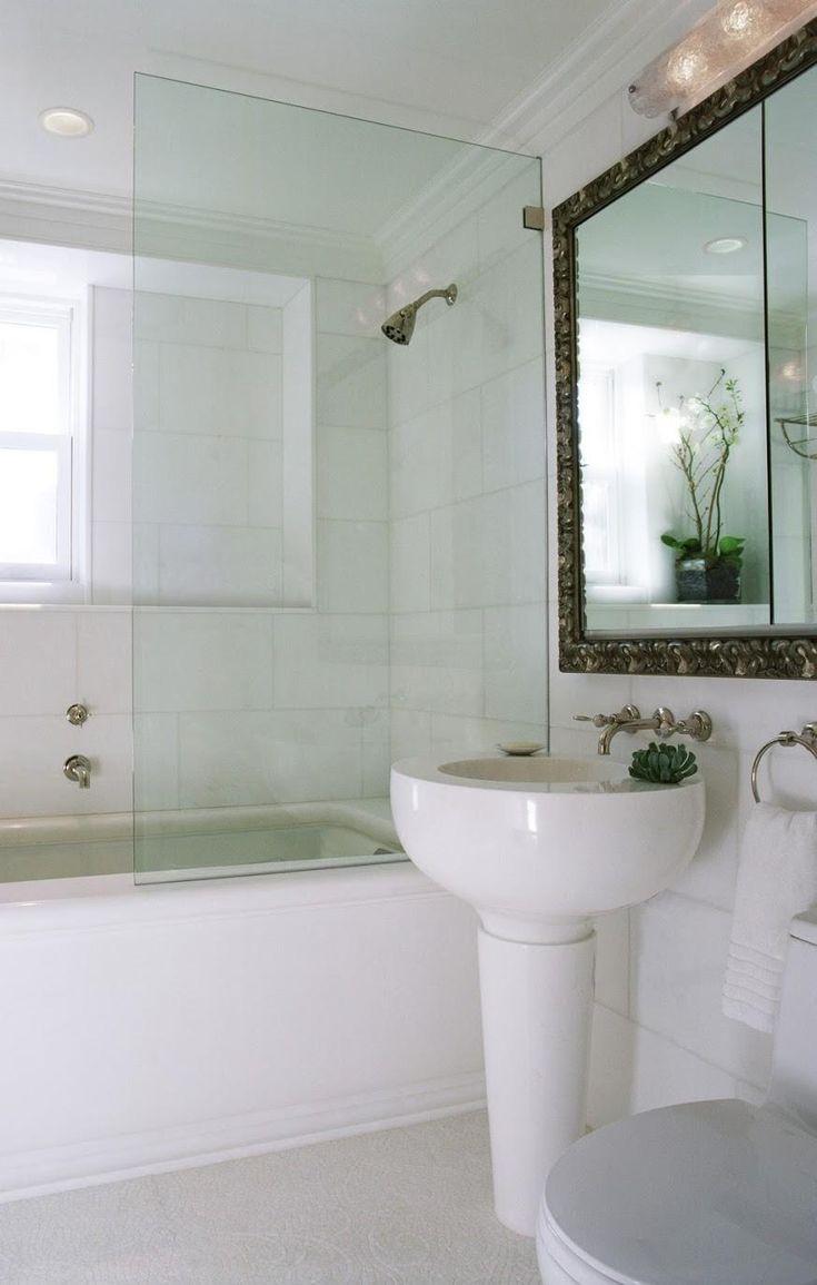 Mamparas Para Baño Salta:mampara panel baño 1 hoja abatible cristal templado 8 mm bisagras