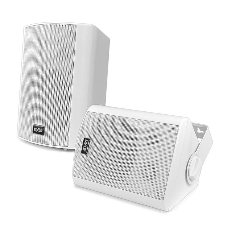 Pyle PDWR51BTWT Wall Mount Waterproof And Bluetooth 5.25 Inch Indoor / Outdoor  Speaker System