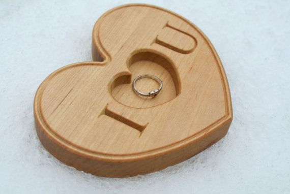 Personalized Wooden Ring Box for Valentines Day by KlikKlakBlocks