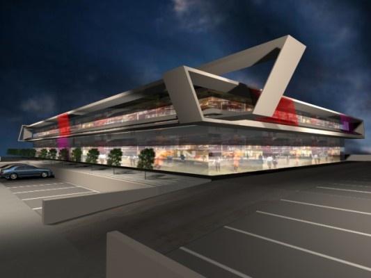 Centro Comercial in Villanueva de la Canada by A-cero