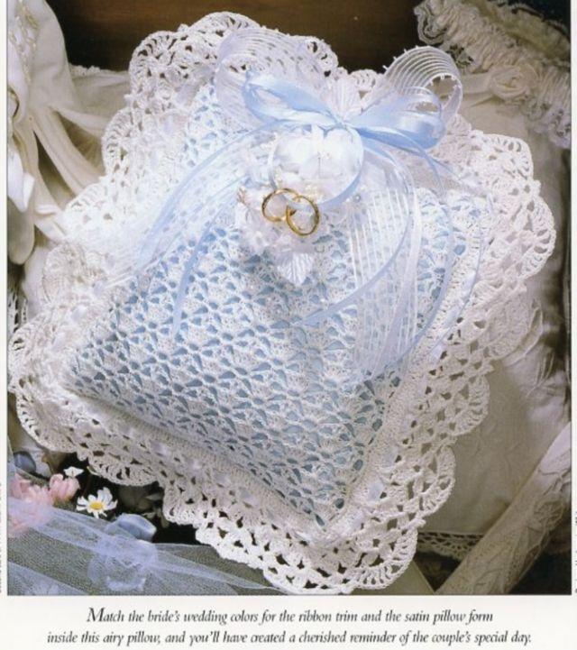 Wedding Ring Bearer's Pillow Vanna NEW Crochet PATTERN - 30 Days To Shop & Pay! #Vanna #Pillow