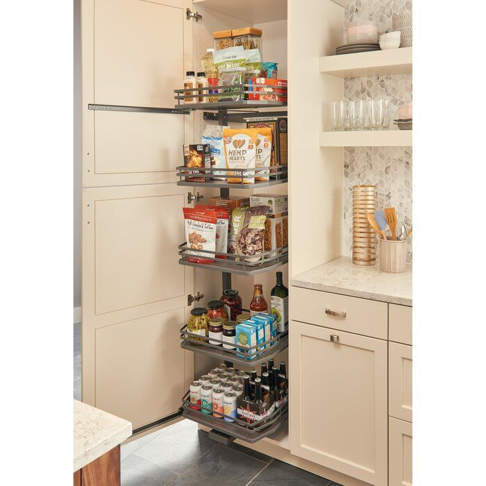 Orion Gray Swing Out For Pantry Rev A Shelf Shelves Kitchen Remodel