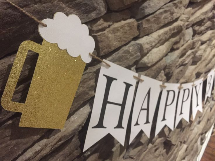 Cheers and Beers Themed Birthday Banner, 30th Birthday Banner, 21st Birthday Banner, 40th Birthday Banner, 50th Birthday Banner by MarinasCraftShop on Etsy https://www.etsy.com/listing/501221556/cheers-and-beers-themed-birthday-banner