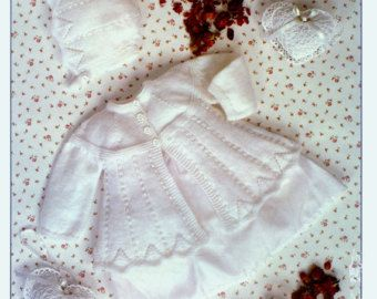 Baby QK 8ply Matinee Jackets bonnet & boottees 2 styles