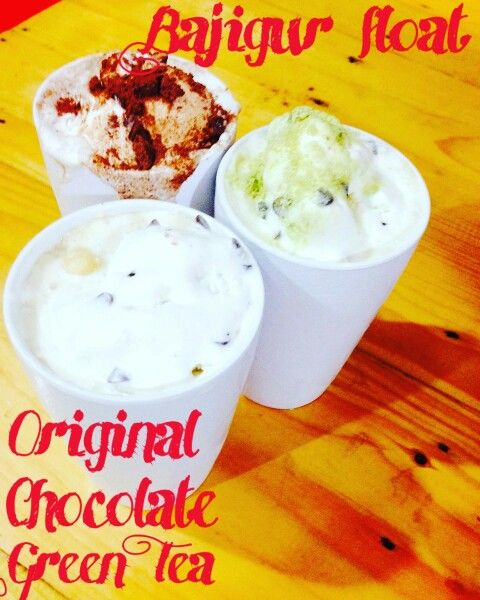 Bajigur Float  ●Original  ●Chocolate   ●Green Tea.