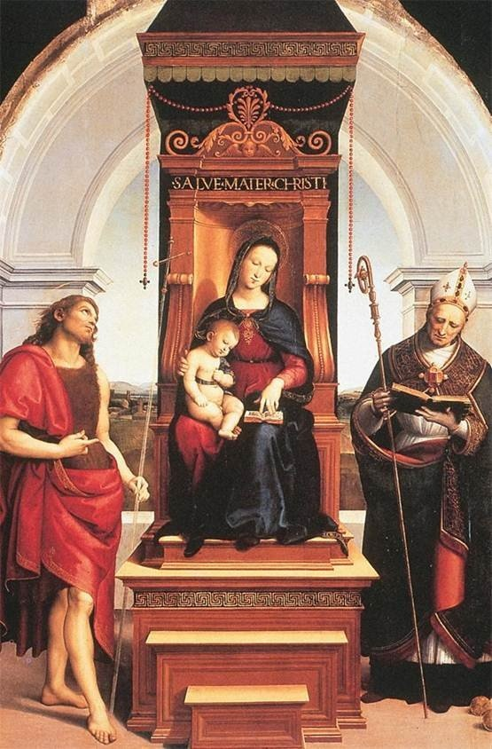 Explore this interactive image: Raphael, Ansidei Madonna,1505 by Sharon