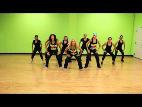 One hour of zumba videos 18 songs total...play one after another for complete workout