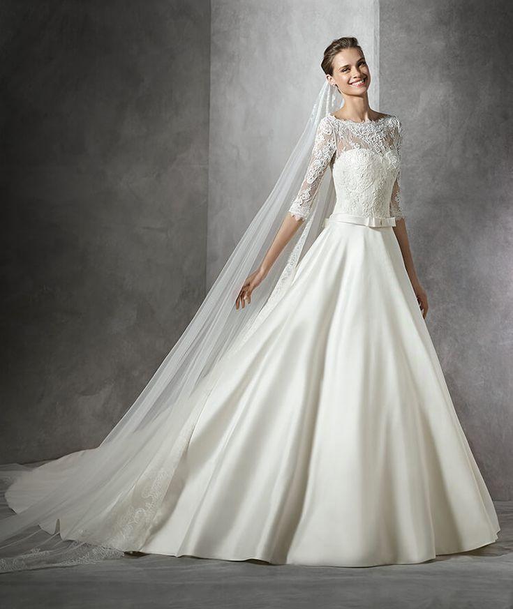 TORICELA - Brautkleid im Prinzessin-Stil mit U-Boot-Ausschnitt