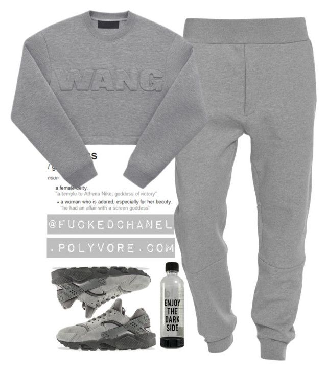 """""""#MOOD"""" by fuckedchanel ❤ liked on Polyvore featuring Acne Studios, NIKE and tomboy"""