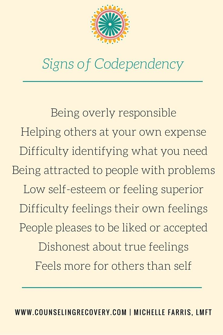 codependency.  People pleasing, poor boundaries, attracting problems and helping too much are common. Putting the focus back on you and letting go of what the alcoholic does is the start of 12 step recovery.