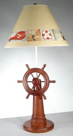 Ship's Wheel Lamp $114.95: Coastal Lamps, Nautical Decor, Beaches House, Nautical Lights, Wheels Lamps, Ships Wheels, Lamps Lights, Tables Lamps, House Decor