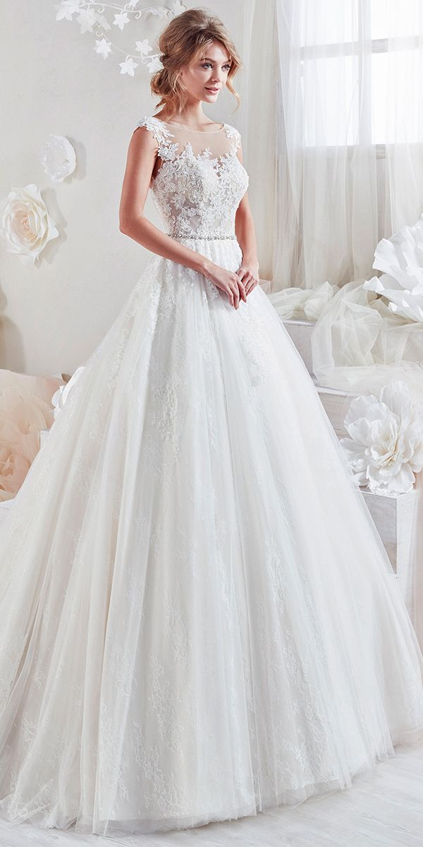 Beautiful And Romantic Nicole Spose Wedding Dresses 2018 ❤ aline with scoop and embroidered lace and bel nicole spose wedding dresses Full gallery: https://weddingdressesguide.com/nicole-spose-wedding-dresses/