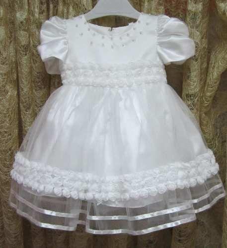 Vestido Batizado Batismo Dama de Honra Casamento Aniversário  Vestido Bebê