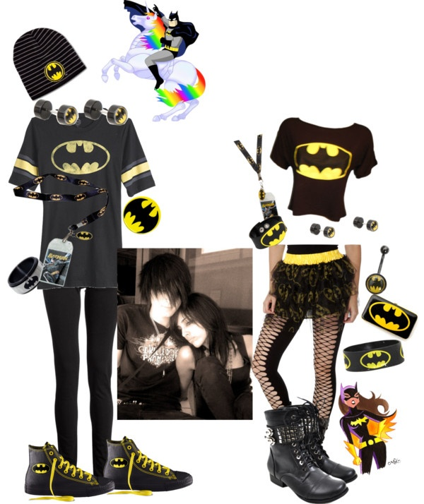 """""""our outfits to go see batman"""" by bushmh ❤ liked on Polyvore"""
