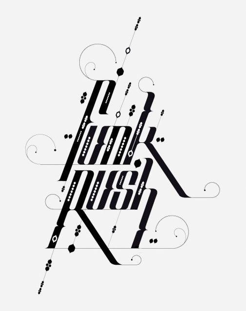 Typography by David Mascha #design #inspiration #typography
