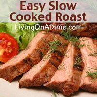 Slow Cooked Roast Recipe