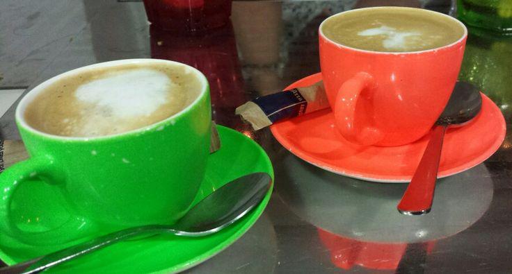 Stefan og jeg sluttede selvfølgelig af med lækker kaffe
