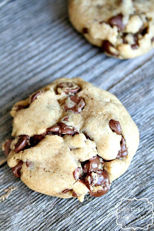 Double the chocolate Caramel Chocolate Chip Cookies on MyRecipeMagic.com