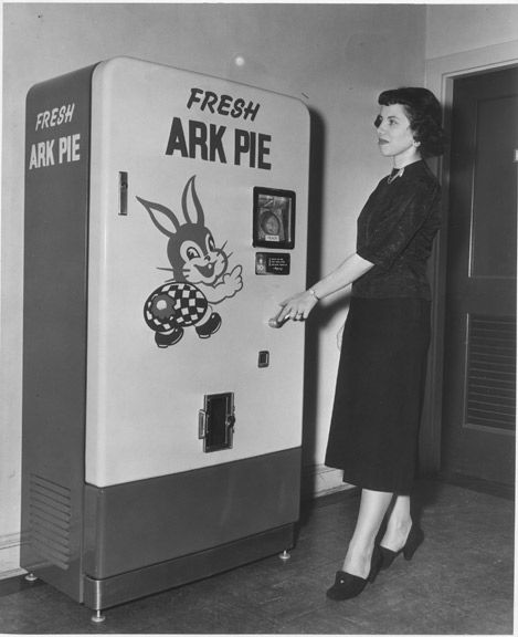 Is it Ark Pie because it has two of every kind of animal in it?  Please say yes. #vending #machine #vintage