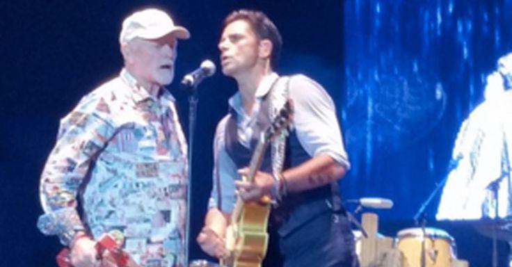 John Stamos reunites with The Beach Boys at the LA County Fair