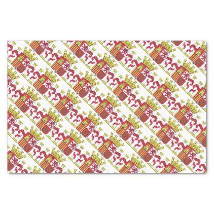 Spain/Spanish Flag Emblem Tissue Paper - craft supplies diy custom design supply special