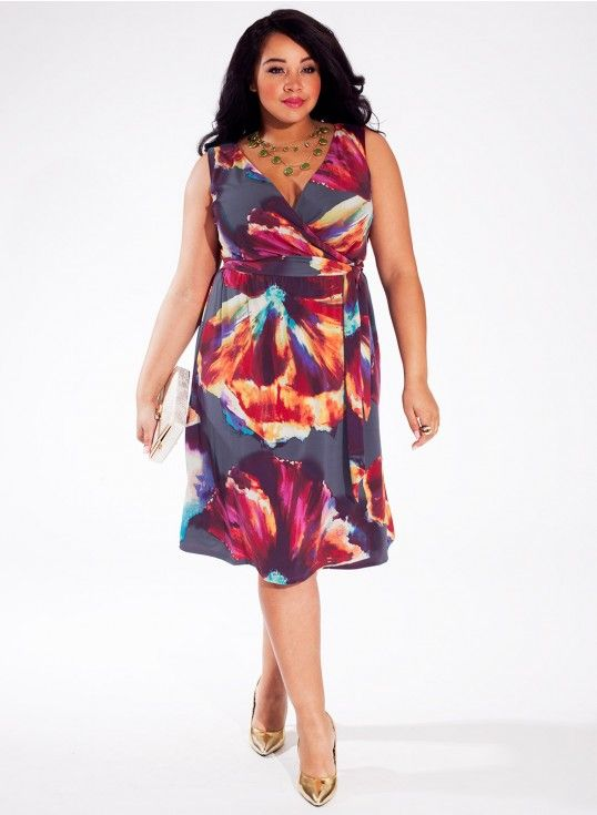 Lindsey Dress in Hibiscus Cove