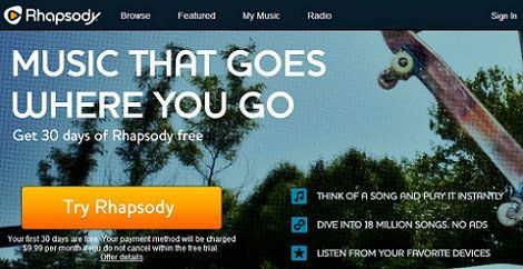 Access Rhapsody with VPN Service Outside of the US    If you want to download and access songs and other content then Rhapsody is a good option for you as this has a low monthly fee. The service is available for a wide range of devices and it's a popular one. The main problem with this service is that it's not available outside of the US which makes it impossible for others to access unless they use a VPN service.  http://www.bestvpnserver.com/access-rhapsody-with-vpn-service-outside-of-us/
