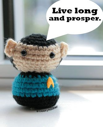 Learn how to crochet Spock from Star Trek! #amigurumi