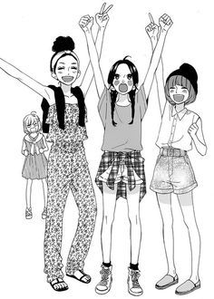 Manga Hirunaka No Ryuusei And Black White Image