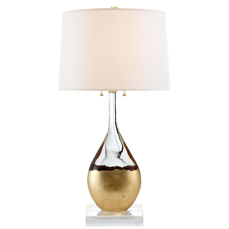 Visual comfort suzanne kasler table lamps juliette table lamp in crystal and gild with silk shade