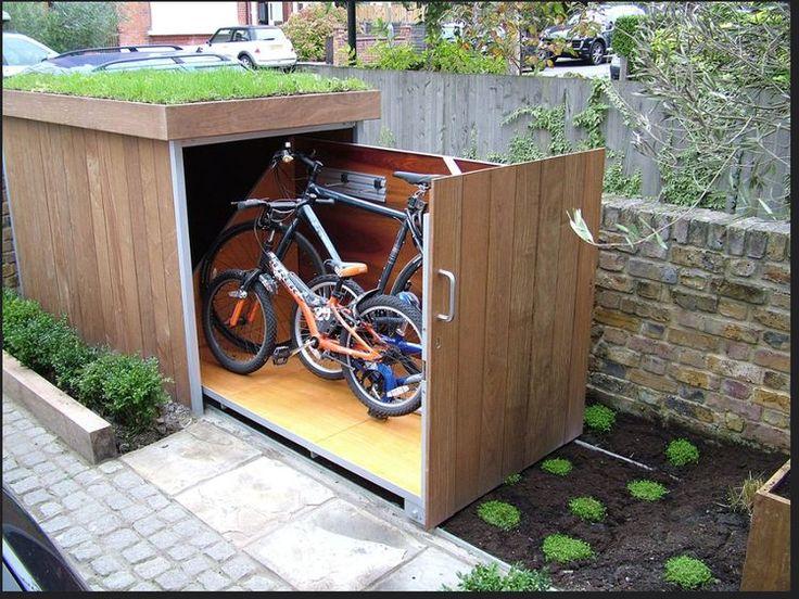 10 besten fahrrad bilder auf pinterest fahrradgarage holz und fahrradschuppen. Black Bedroom Furniture Sets. Home Design Ideas