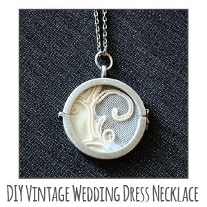 DIY Vintage Wedding Dress Necklace | Little Red WindowLittle Red Window