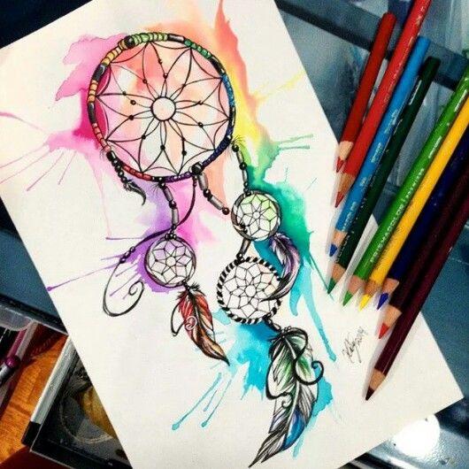 Filtro do Sonhos perfeito. #aquarelado #cores #filtrodossonhos #dreamcatcher