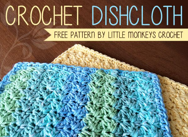 Crocheted Cotton Dish Scrubbers How To Crochet Pinterest