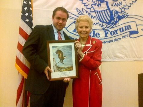 Breitbart News' Matthew Boyle Receives Eagle Forum's Eagle Award for Immigration Reporting