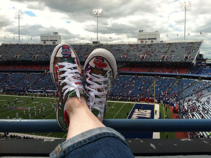 Ready to Rock the Ralph! Buffalo Bills hand painted custom Converse All Star shoes